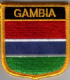 Gambia Embroidered Flag Patch, style 07.